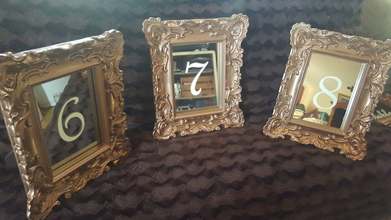 SPECIAL ORDER Glass in Frames Wedding Table Number Table