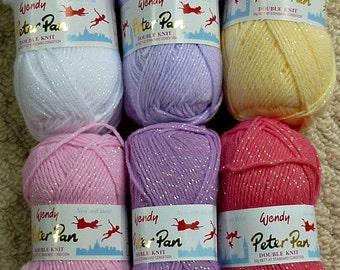 Baby Knitting Wool/Yarn Peter Pan Moondust Baby Double Knitting (Light Worsted) 50g Knitting Yarn Wendy