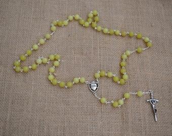 Lemon Agate Rosary