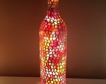 Scalloped Light Up Wine Bottle