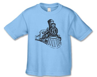 The Train Personalized Birthday Shirt - Vintage Train Birthday Party - 1st, 2nd, 3rd, 4th, 5th  Birthday TShirt (any number works for us)