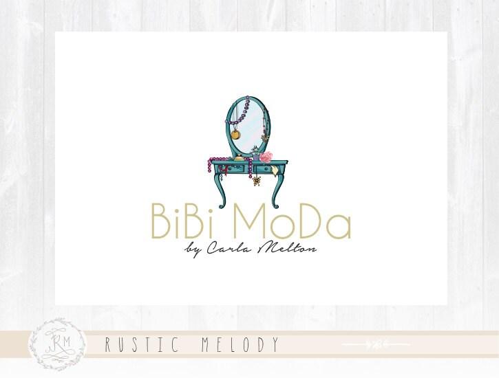 vintage furniture logo. Furniture Logo Design Vintage Floral Shabby Chic Photography Watercolor Decor