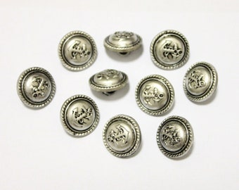 15 Anchor Antique Silver Shank Vintage Hole Buttons 21x21mm