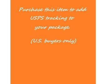 Add USPS tracking to your package, U.S. buyers only (shipping upgrade for purchased Material Whirl item)