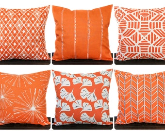 Decorative Throw Pillow Cover, Cushion Cover Monarch orange, white, blue