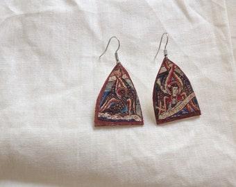 Handmade earrings, Medieval picture