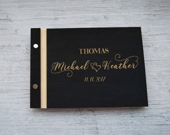 Elegant wedding guest book Heart guestbook Creative guest book alternatives Monogram guest book Wedding sign in book Gifts for couple