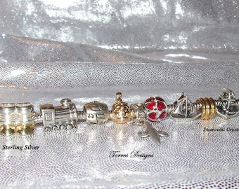 3mm Sterling Silver Legend of Zelda Wind Waker Spirit Tracks Charm Bracelet Custom OOAK One of a Kind by TorresDesigns Collectible Gift RTS