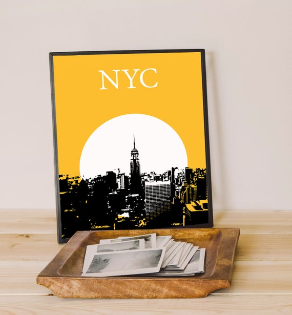 NYC Poster New York Printable NYC wall art ny skyline