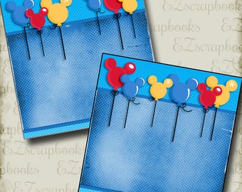 Magical Balloons NPM - Disney - 2 Premade Scrapbook Pages - EZ Layout 2956