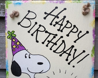 Snoopy birthday cake Etsy