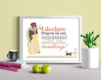 See Jane Read - Jane Austen Poster Print