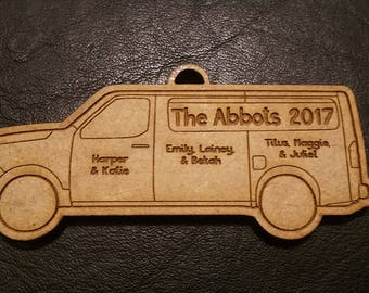 Nissan NV Family Christmas Ornament - The Whole Crew