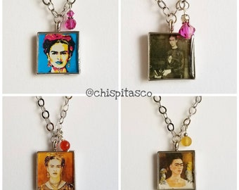 Frida Kahlo Pendant Chain Necklace