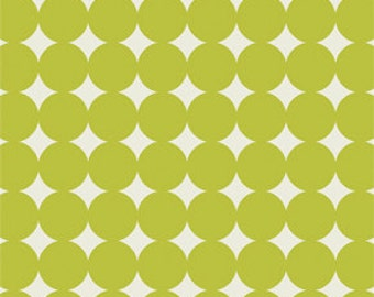 Heather Bailey True Colors -Olive Mod Dot - 1/2 yard cotton quilt fabric 516