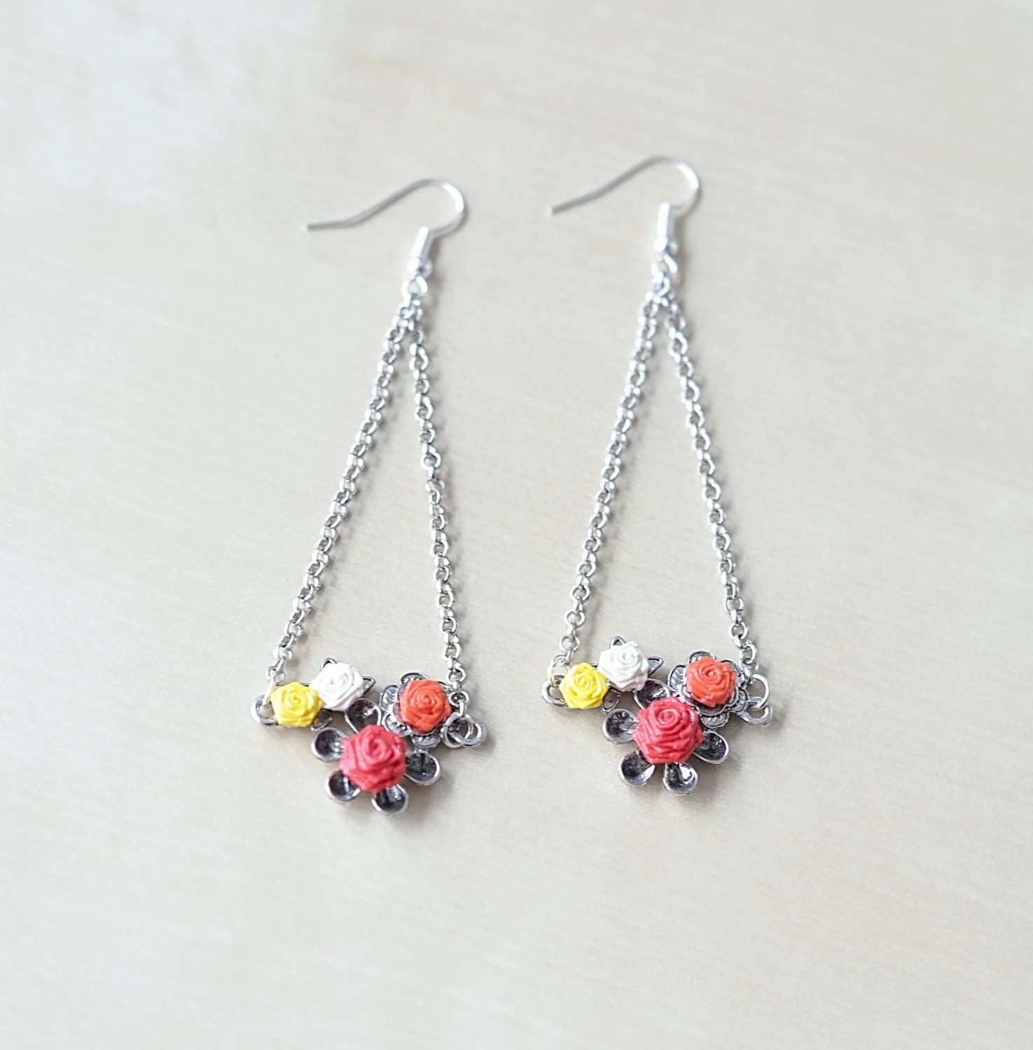 tassel calico products beaded img earrings white