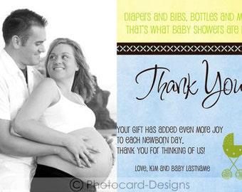 Baby Shower Boy Photo Thank You   diy   Print file   Digital   Baby Shower   Thank You   Personalized   Photo   Birth   Gift   Shower