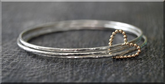 sterling heart diamond accent and bangles bracelet bangle silver p v in