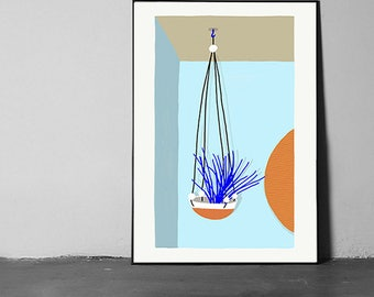 hanging plant poster