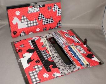 Scottish Terrier Wallet - DIVA Wallet - Clutch Wallet - Dog - Scottie Dog