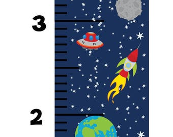 Growth Chart, Space Wall Decals, Space Growth Chart, Growth Chart Wall Decal, Space Theme Kids Room, Space Theme Wall Decals