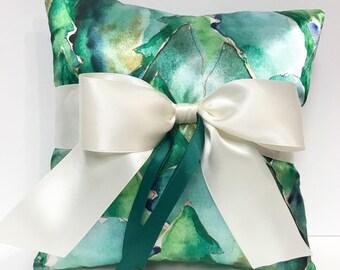 Woodland Wedding Ring Bearer Pillow, Rustic Wedding, Wedding Ring Pillow, Forest Wedding Pillow
