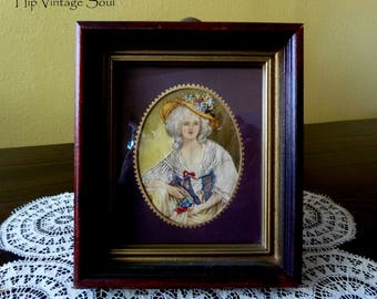 Elizabeth of France, Fine Needle Painting of Elizabeth of France, Victorian Home, French Home, French Painting with Hand Embroidery