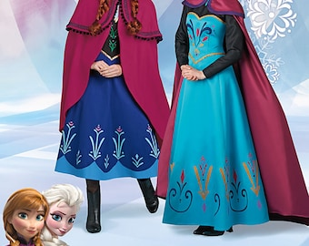 ADULT FROZEN PATTERN / Elsa Coronation Dress and Cape / Anna Adventure Dress and Cape