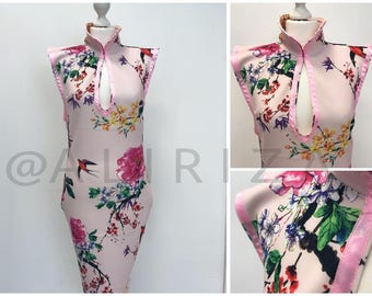 Chinese Style Floral Dress