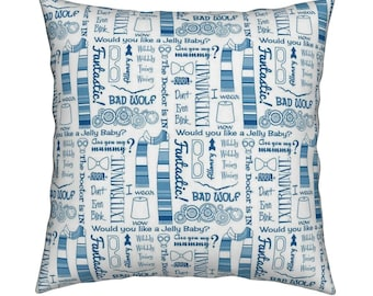 Doctor Who Cushion Cover-Tardis Cushion Cover-Dalek Cushion Cover