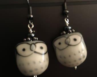 whoooo owl earrings