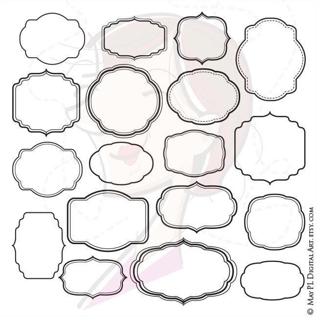 Digital Frame Clipart Shapes Clip Art Scrapbook Office