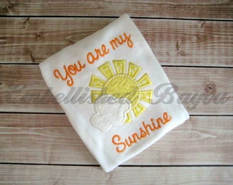 You are my Sunshine Applique Onesie for Girls or Boys
