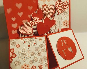 Valentine's Day card pop up on order