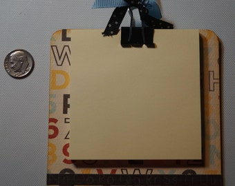 Mini Post it Note Chipboard