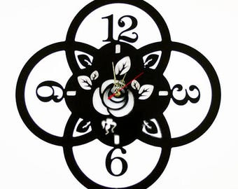 Fashion Art wall clock, Modern wall clock, Flower wall clock