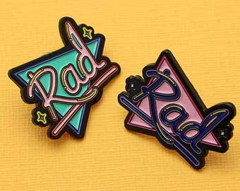 SECONDS SALE Rad Soft Enamel Pin // Rad Collection, 90's Vibes