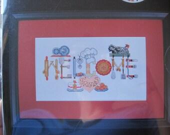 "Cross Stitch Kit - Welcome Friends - Artiste #1088517 - 11"" x 5.625"" - NEW NIP"