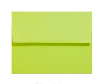 REDUCED for QUICK SALE Lime Green Envelopes - Set of 25 Lime A7 Envelopes - Perfect for 5x7 Photos and Cards