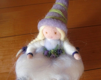 fairy in carded wool
