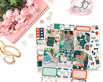 Palm Springs B6 WO2P Mini Kit || 70+ Planner Stickers || Traveller's Notebook