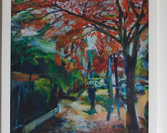 The Longest Road in Brooklyn - Bedford Ave - limited edition Fine Art Gicleé Print of an original painting by Noel Hefele