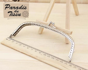 1 x clasp for bag and purse color silver 15cm