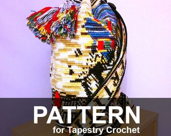 Nefertiti Bag - Pattern PDF - Tapestry Crochet