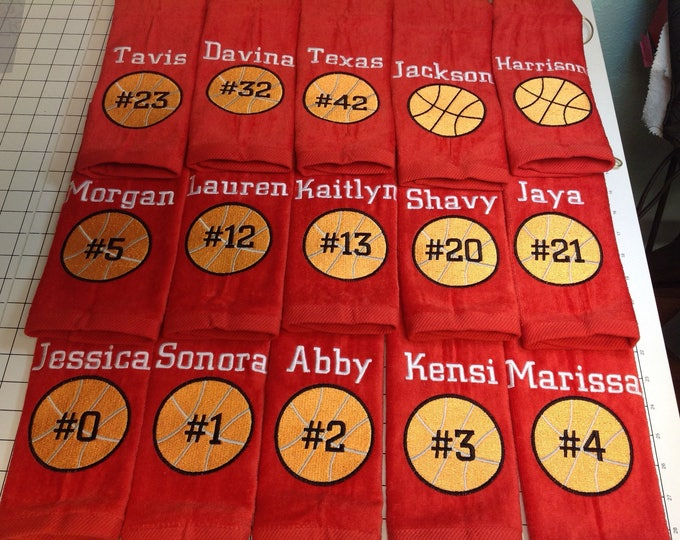 Red towels, Red beach Towels, Red Sport Towels, Red towel, Golf, Bowling, Swimming, Basketball, Softball, Baseball, Volleyball,