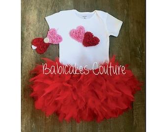 Valentines Birthday Outfit,  1st Birthday, 1st Birthday Girl Outfit, Sweetheart 1st Birthday Red Birthday Outfit Valentine Cake Smash Outfit