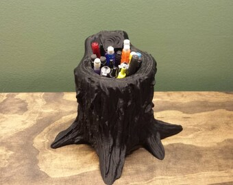 Tree Stump Pencil Holder