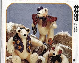 Snow Bearies / Original McCall's Crafts Uncut Sewing Pattern 8389