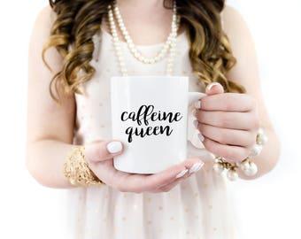 Caffeine Queen Mug | Mug | Coffee Mug | Tea Mug | Caffeine Lover | Coffee Drinker | Gift for Her | Caffeine Mug | Caffeine Queen | Gift Idea