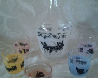 french vintage set liquor with a romantic setting